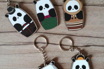 Culture Panda Wood Charms