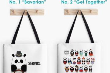 Culture Panda Tote Bag